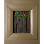 The Outset Of Fall Framed in Black Stained Oak