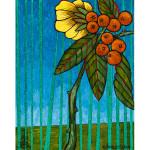 Reed Flowering Shrub Acrylic on Canvas