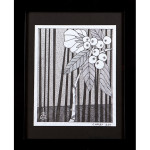 Reed Flowering Shrub Drawing India Ink on Paper