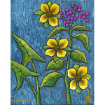 Flowering Berry Stalk Acrylic on Canvas