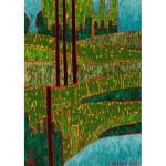 Taiga in Green Acrylic on Canvas