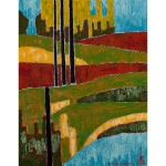Taiga: The sign in the landscape acrylic on Canvas
