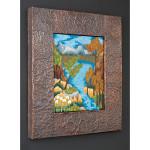 Blue Lake at Stangarten Dell, copper frame
