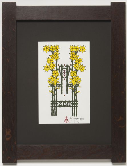 Star Bethlehem Freesia Framed