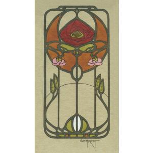 Nouveau Rose Print